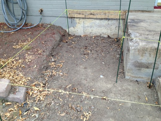After you draw up a plan, physically lay out the footing and joist locations with stakes and string.