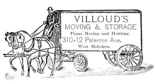 Early Horse-drawn Moving Van
