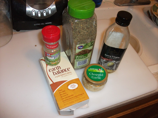 Supplementary seasoning and spices.