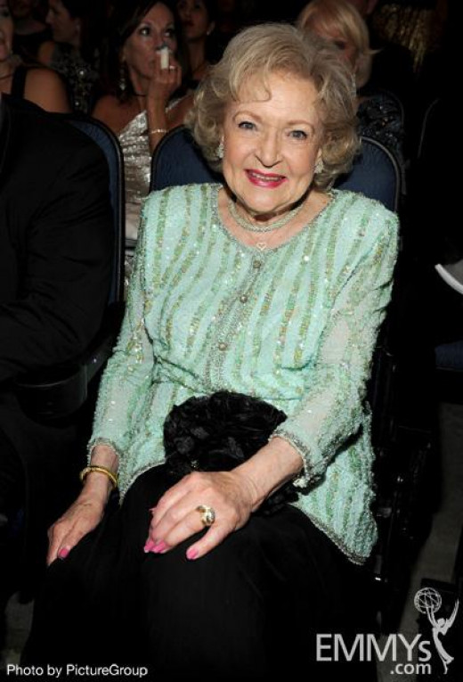 Betty White did not win any Emmys this evening, but don't rule the Golden Girl out: she's already won seven times, with twenty nominations.  America's Sweetheart, truly.