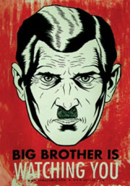"""""""Big Brother"""" was coined by George Orwell in his novel """"1984"""" - as an all-seeing entity that controlled the people. The popular TV show by the same name is about people constantly observed. Ironic that it's what was on when we got this eerie call!"""