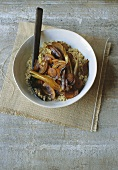 Honeyed Vegetables on Quinoa