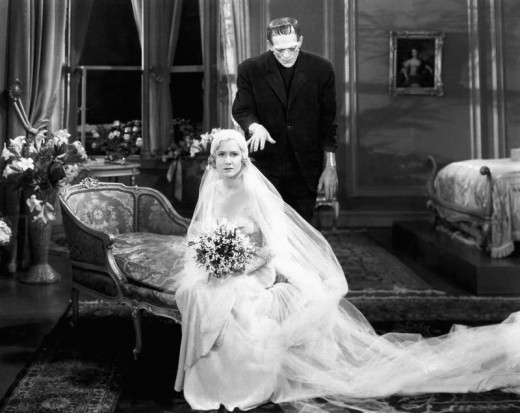 Mae Clarke and Boris Karloff in Frankenstein (1931)
