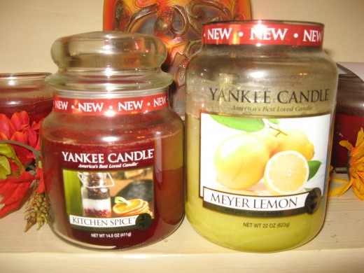 Hubby knows he can never go wrong with Yankee Candles.