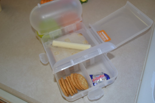 My other son prefers to add carrots and some crackers to their lunches