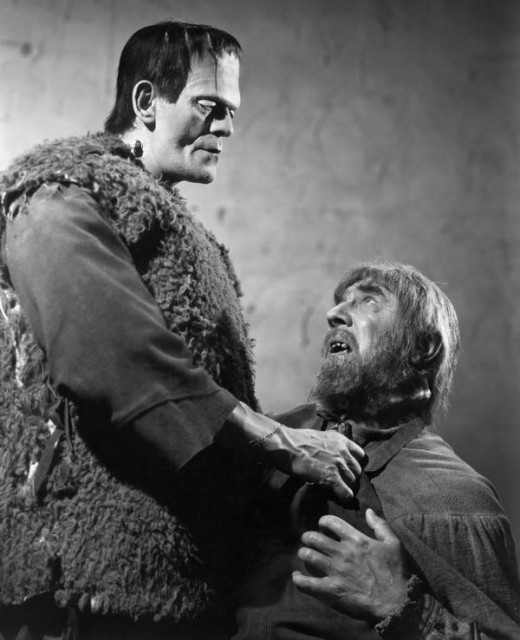 Boris Karloff and Bela Lugosi in Son of Frankenstein (1939)