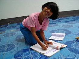 Give your child a special place all her own to do her homework.
