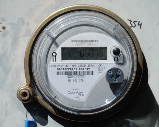 "Notice the tiny ""FCC"" number above the digital readout? The Federal Communications Commission is noted on smart meters because they transmit your data wirelessly."