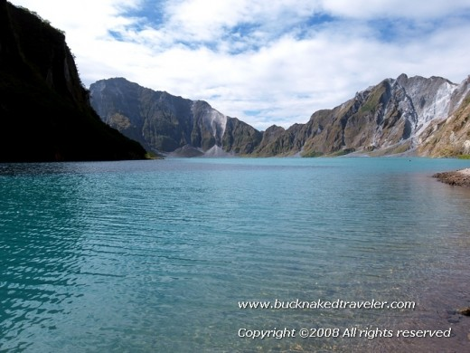 The lake on top of Mt. Pinatubo, Philippines