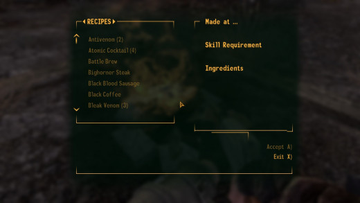 You can make medicine and such at campfires with the right ingredients.