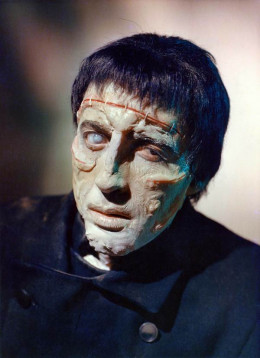 Christopher Lee as the monster in The Curse of Frankenstein (1957)