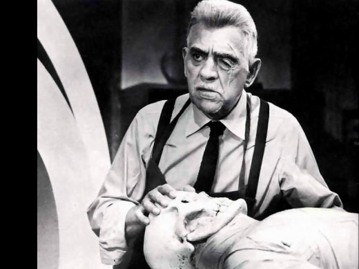 Boris Karloff in Frankenstein 1970 (1958)