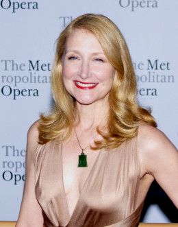 Patricia Clarkson, smiling here, does not smile often as April's mother, Joy.