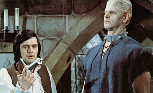 Ralph Bates and David Prowse in Horror of Frankenstein (1970)