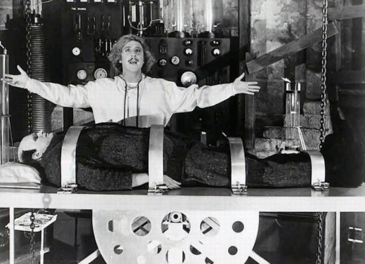 Gene Wilder and Peter Boyle in Young Frankenstein (1974)