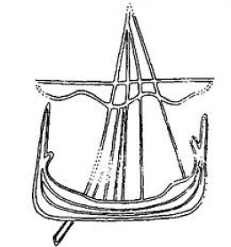 Early Scandinavian stone ship carving - the ship (albeit a rowing vessel of the type buried at Sutton Hoo) played a pivotal role in legend from the time of Beowulf