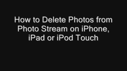 How to Delete Photos from Photo Stream on iPhone, iPad or iPod Touch