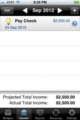 "Add Recurring Income "" Simulated"""