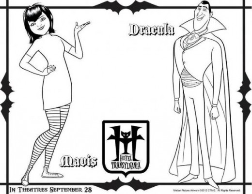print hotel transylvania coloring pages - photo#29