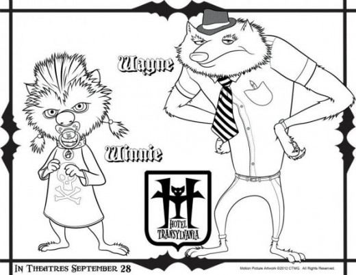 print hotel transylvania coloring pages - photo#30