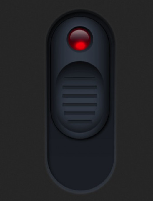 When you click on the app icon this button appears to either turn on or turn off the light.