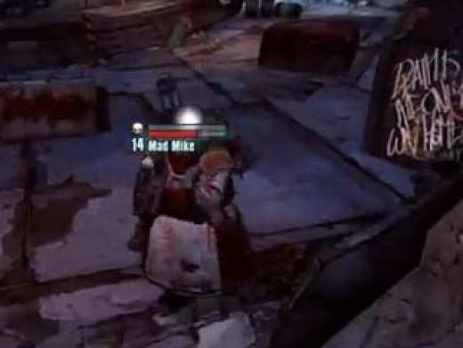 Borderlands 2 Infiltrate the Bloodshot Stronghold and Defeat Mad Mike.