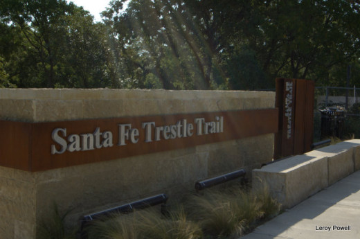 The Sante Fe Trestle Trail is a new hiking and biking trail.  While the city is not far away you can get a glimpse of what Dallas was like before we got here, but just a glimpse.