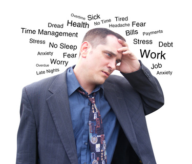 pic of man stressed