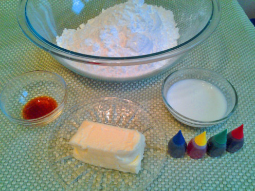 Butter Frosting Ingredients