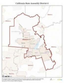 California Assembly District 6 after June 10, 2011 redistricting
