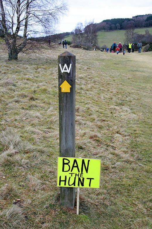 Hunt Saboteurs make their views known