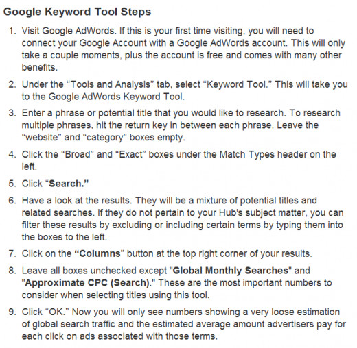 Learn How to Use the Google Keyword Tool to increase your online earnings by selling more products.