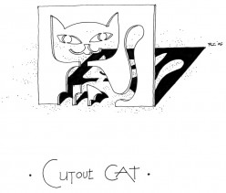 Cut-Out Cat