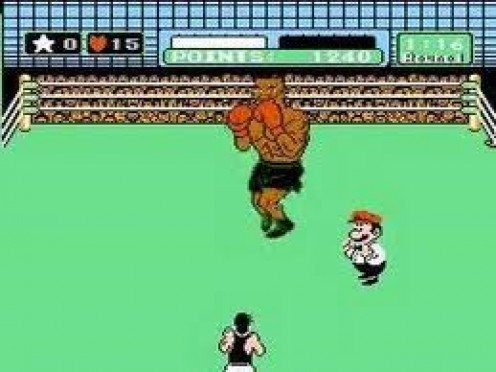 Mike Tyson's Punch Out was a video game for the Nintendo Entertainment system. Your character is lil Mac and he boxes past several guys until he gets to Iron Mike.