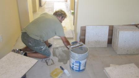 New Tile Floor Installation