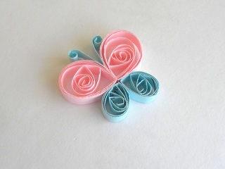 A quilled butterfly.