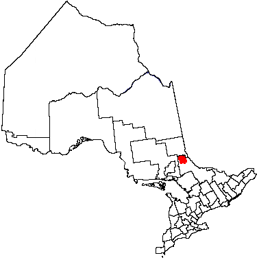 Map location of Temagami municipality