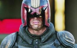 Dredd, played by Karl Urban
