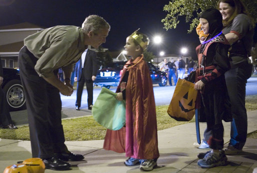 Even a US President loves to join in the fun of Halloween!