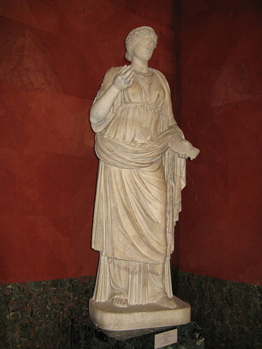 A stature of the Muse, Calliope.