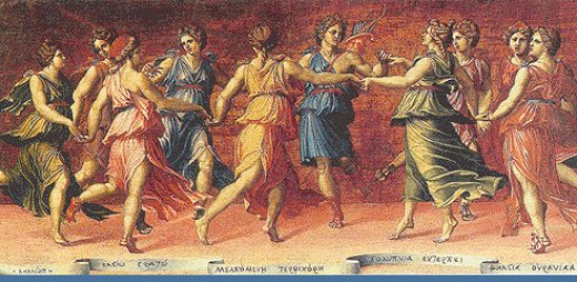 The Muses Dancing