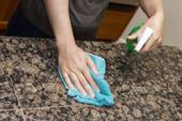 Use plain water and microfiber cloth on granite, tv, computer screens