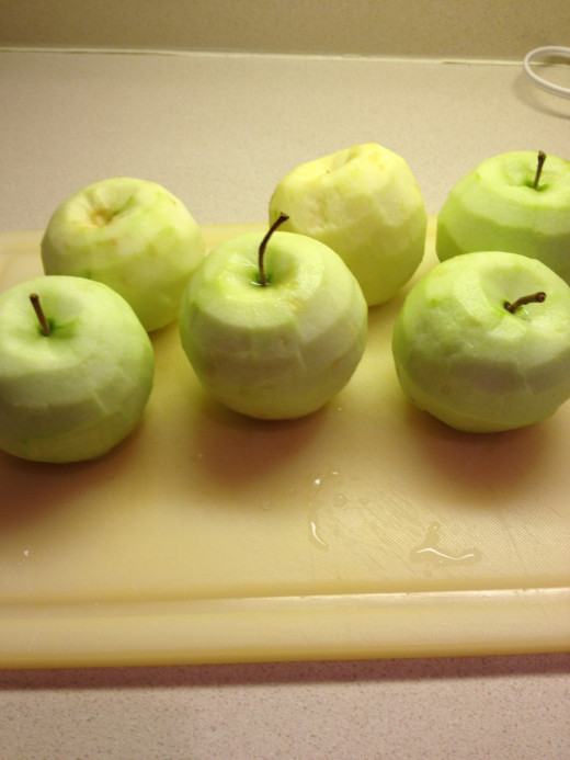 Peeled apples: they look so good!