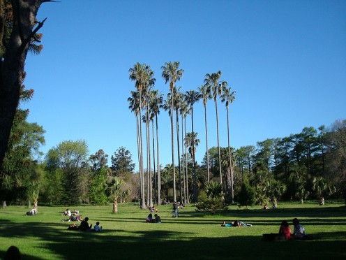 The Botanic Garden in Prado Park, Montevideo, Uruguay