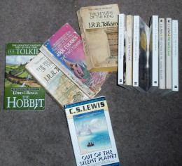 The author's personal collection of the books mentioned in this article, minus The Princess and Curdie.