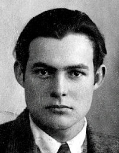 Hemingway's passport photo, circa 1923.