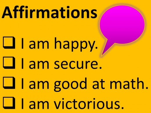Write affirmations to help you achieve your goals.