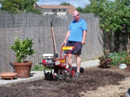 The beginning, Gary and the rototiller!