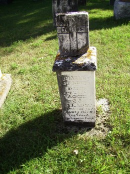 Grave of My Great-Great-Grandfather, Charles O'Connor (1810-1865) in Holy Japanese Martyr's Cemetery in Phillipsville, Ontario.