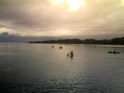 Kids, Going Home after School, Good Enough Island, PNG